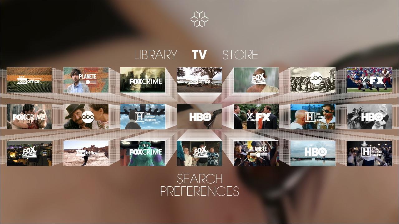 Korisnički interfejs Videoscape-a