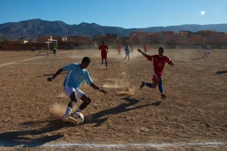 Soccer match in Agdz