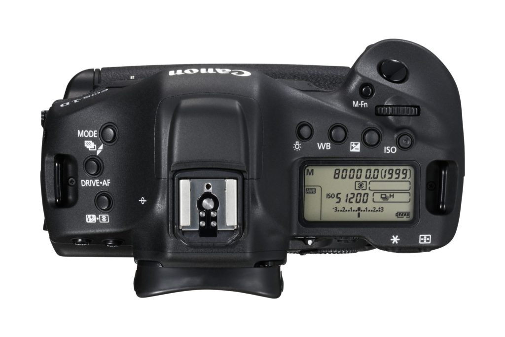 EOS-1D X Mark II top