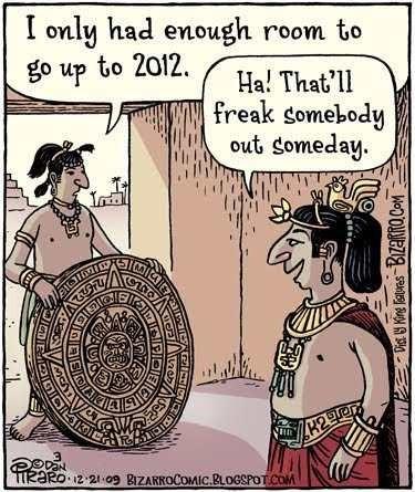 """Karikatura posvećena """"predskazanju"""" sa majanskog kalendara"""