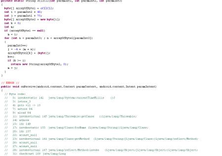 Deo enkriptovanog koda trojanca