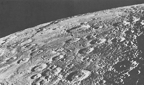 Mariner 10 - površina Merkura