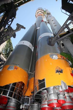 Sojuz 2.1b pred lansiranje jula 2014.