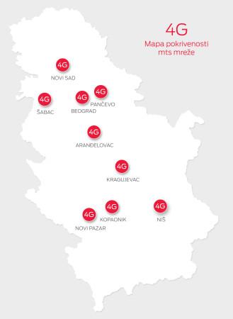 4G mapa pokrivenosti mts mreže