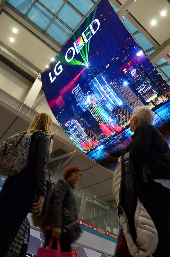 LG OLED ekrani na aerodromu Incheon