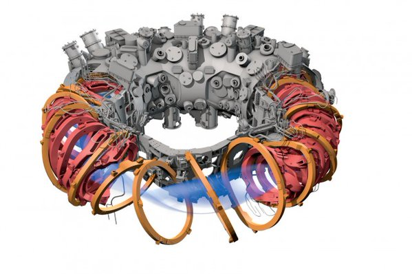 Grafički prikaz Wendelstein 7-X reaktora