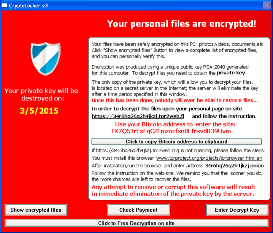 Ransomware-Obavestenje